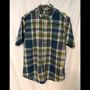 Men's Old Navy Short Sleeve Plaid Shirt Size Large
